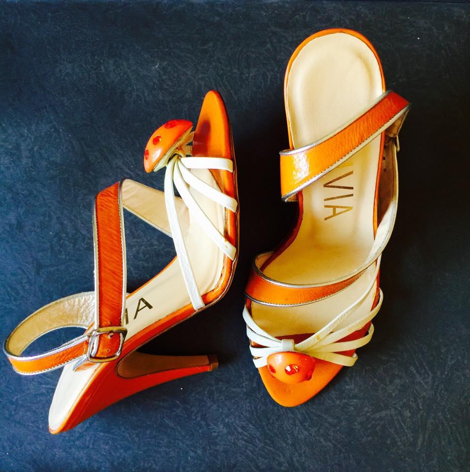 vivia sandals bicolor retro