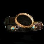 Cinturon Capazonia piel de cobra con hebilla intercambiable